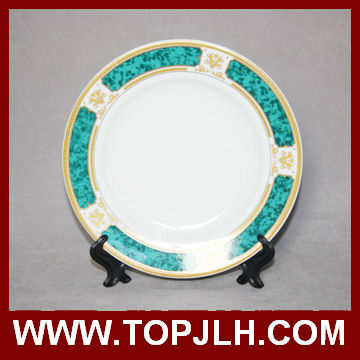 Best Selling White dinner plates printing custom your Logos ceramic plates