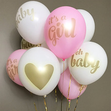 Baby Shower Party Decorations Gold Print Latex Baby Shower Balloons