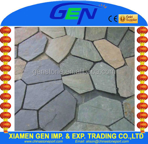 Irregular Shaped Mix Color Slate Pavers