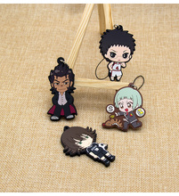 Creative cartoon PVC soft glue key chain the cute characters small hang key chain key ring lovers