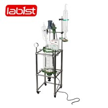 Chemical continues stirring glass jacketed packed bed reactor