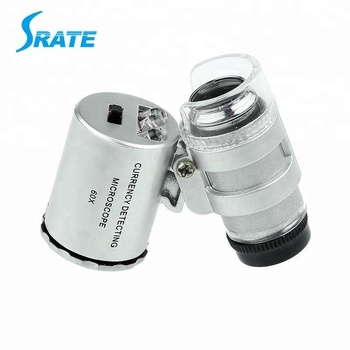 60X LED UV currency dectecting pocket Mini Microscope