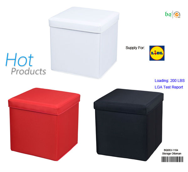 Foldable polyester storage stool