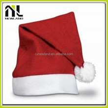 100% Polyester Felt Hot selling decoration Santa Caps Christmas Hat