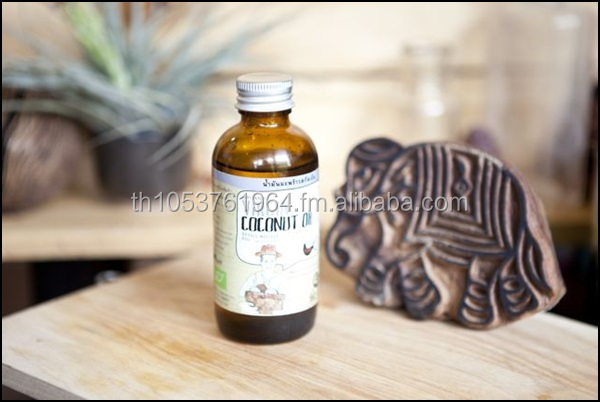 Certified Organic virgin coconut oil 120ml-Detox and healing your body and health, origin from Thailand certified organic farm