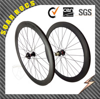 bicycle carbon wheels 700C clincher 50mm depth 23mm width road bike disc brake for cyclo cross bike wheels