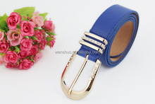Pin buckle Leather Crystal Belt Women Fashion Belt