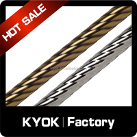 KYOK Anti-copper twisted lines curtain poles ,wrought iron curtain poles,curtain poles wholesale