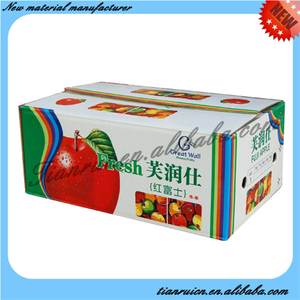 Corrugated Plastic Widely Used Apple Fruit Packaging Boxes