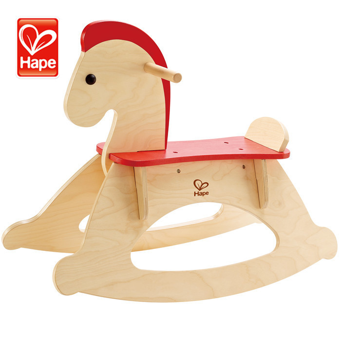 Hot Sale Kids wooden educational rocking horse/ride on toy