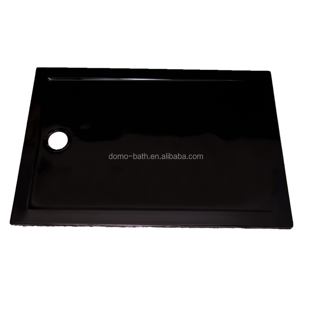 DOMO Cheap simple bathroom black acrylic shower tray