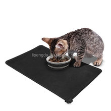 High quality pet bowl mat dog feeding mat waterproof silicone large pet mat for dog, cat feeder placemat