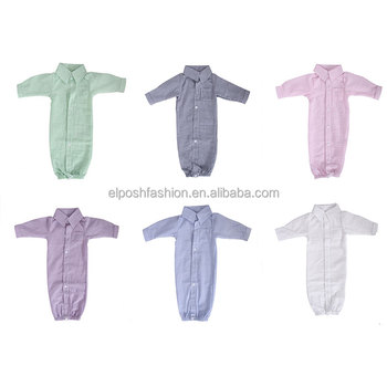 Kids Pajama Toddler Jumper Seersucker Baby Gown