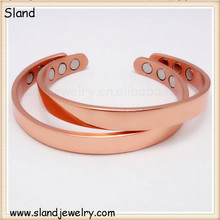 according to research wearing a copper bracelet with bio magnets does help relieving arthritis,joint pain,DIY Logo blank bangle