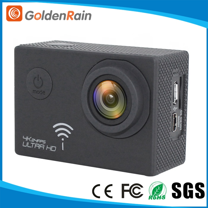 Waterproof 4K UHD 24fps 170 Degree 2 inch LCD WiFi 4K action cam
