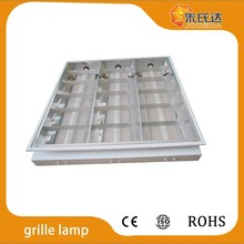 Grille lamp raster 3x18W with ballast