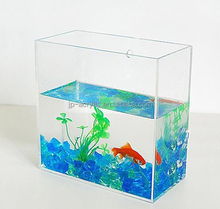 Rectangle import clear acrylic wall mounted fish tank