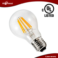 Ultra Bright A19 E26 10W 110V Dimmable Filament LED Bulb