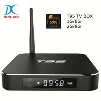 Android smart tv box 1g 8g android amlogic s905 T95 tv box android 5.1 tv box T95 Kodi 16.0 free sexy movie for download