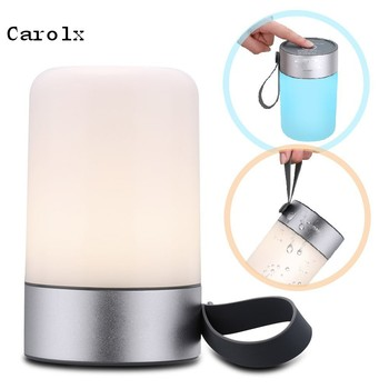 Carolx- Portable Outdoor Standing Led Night Light Reading Lamp Waterproof LED Lamp Lighting with Power Bank for Camping