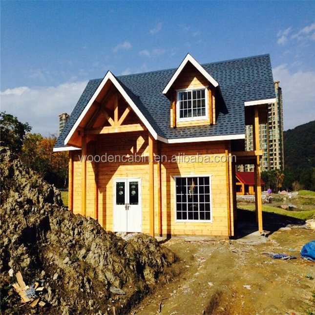 Low Cost Prefabricated wood House and Prefabricated Log House Canadian prefab house