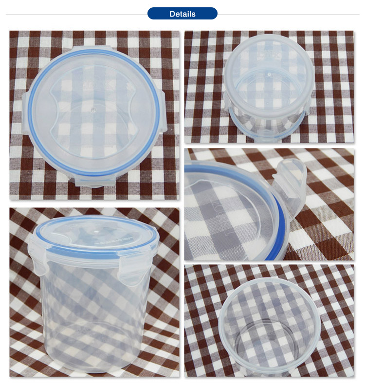 plastic container cylinder for food storage
