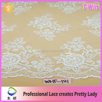 Bridal dress making material hand sequin sewing lace fabric hot in french