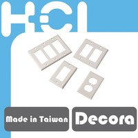 Made in Taiwan Single Gang and Dual Gang Decora Wall Plate Frame