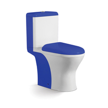Good quality chinese blue toilet bowl colored