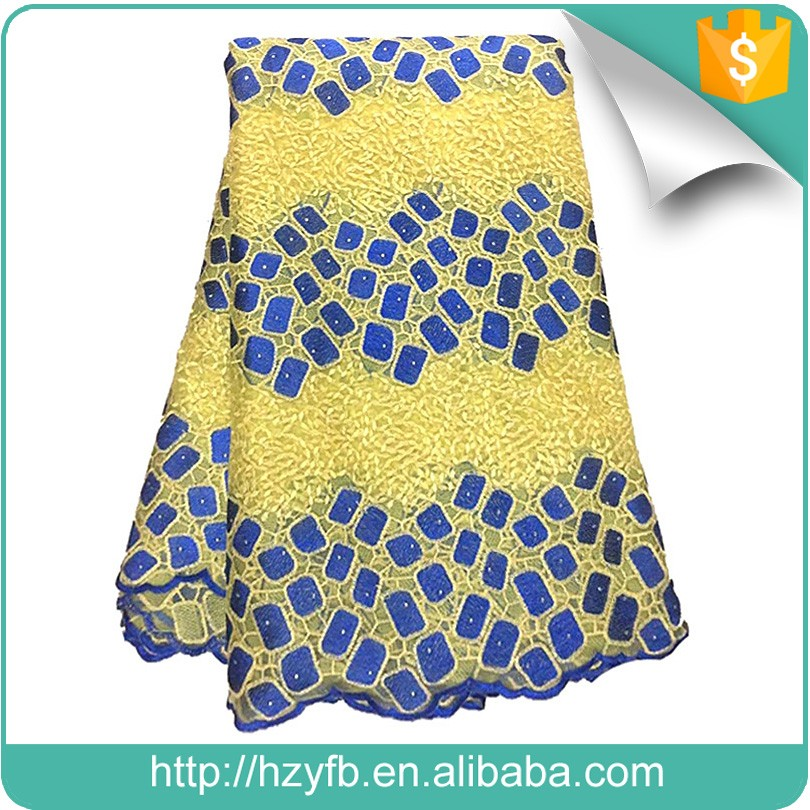 Alibaba hot selling pearl beads embroidery designs / fancy fabric / embroidery japanese lace fabric for Nigerian wedding dress