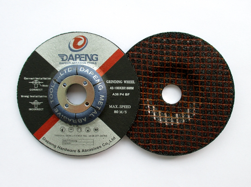 "Reinforced 4"" inch cutting and grinding disc specification with ISO9001 from China factory"