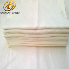 Natural White Hard Industrial Wool Felt