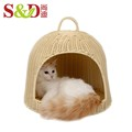 China exporters durable products small animals container rabbit cage cat and dog house with handle