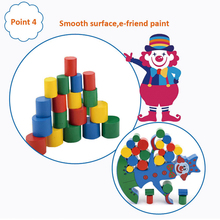Environmental wooden clown indoor wooden sliding balance e-friend puzzle toy