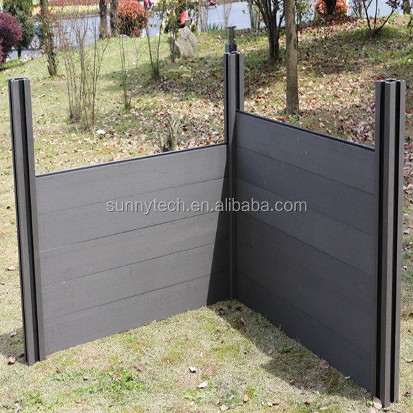 wpc fence,Anti-fading no formaldehyde fence panels wood plastic composite private fencing