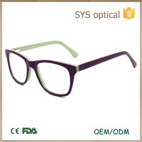 2016 Children optical eyeglasses acetate frames with bright double colors