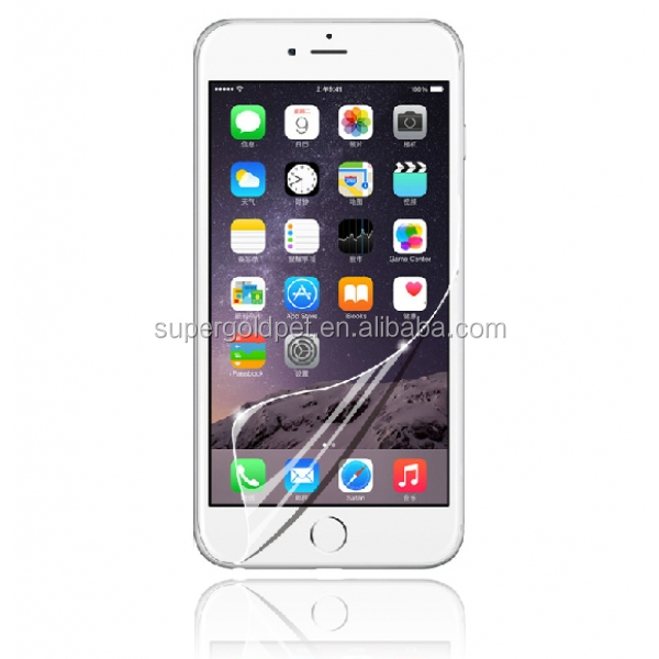 High Transparent and Anti-Scratch 9H PET Screen Protector for cell phone