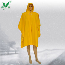New Style Long PVC Waterproof Rain Poncho With Sleeves