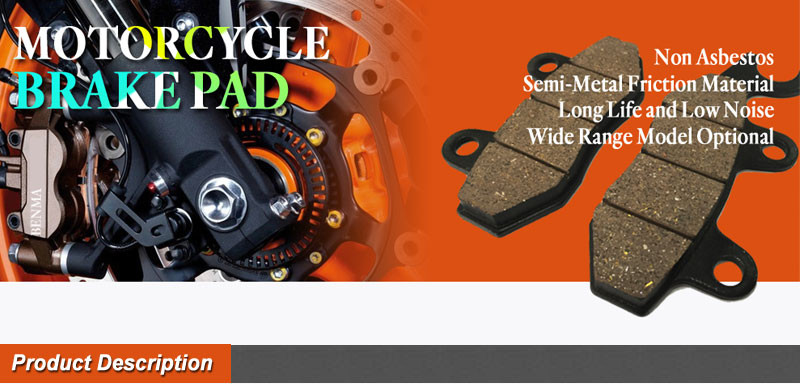 Semi-metal Motorcycle Wave125 Brake Disc Pads For Malaysia Market