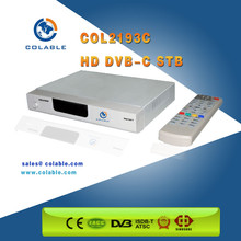 """Best selling"" H.264 MPEG-4 High definition Digital Cable Receiver DVB-C Set Top Box, Receiver HD DVB-C"