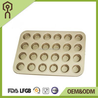 LFGB,FDA,SGS Certification and Moulds Cake Tools Type 24 cups muffin pan