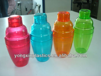clear 6oz ps cocktail plastic shaker