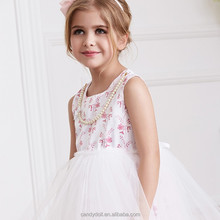 2015 gorgeous white enbroidery dresses baby girls dress with water soluble lace fabric flower girl dress