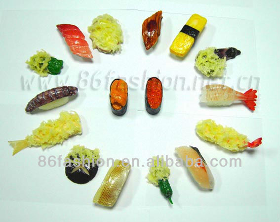 artificial food keychain,plastic toy mini food,miniature artificial food
