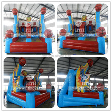 Customized double line inflatable basketball hoop games for sale
