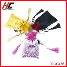 Top quality Satin fabric drawstring bag the new feeling of chinese style