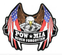 American POW Military Embroidered Patches/Badges
