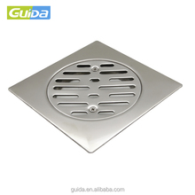 Guida brand SS304/201 square polished stainless steel balcony bathroom sanitary floor drain