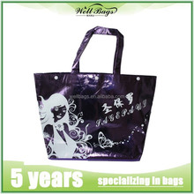 Metallic laminated non woven tote bags,tote bag, promotional bag