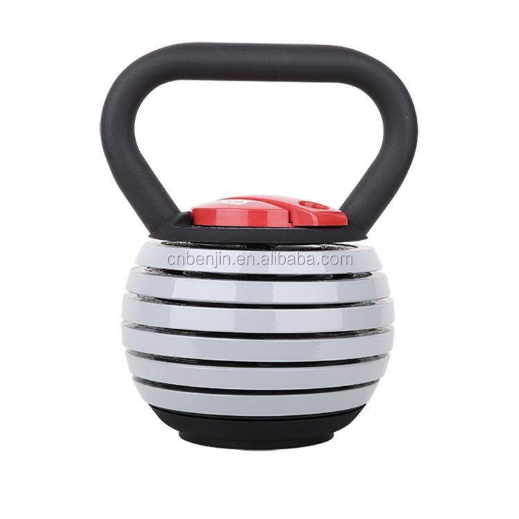 40 lbs Adjustable Kettlebell Weight W/ DVD. 5 lb increments Exercise Equipment Gym Kettle Bell Set